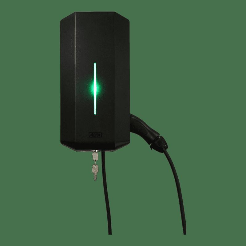 Tesla Model X (80 kWh) Garo GLB 22 kW (fast kabel)