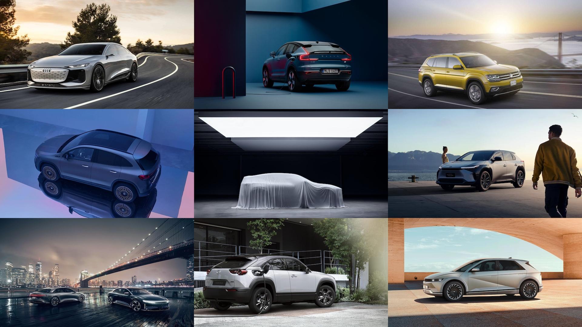 Tio nya elbilar att se fram emot under 2021/2022